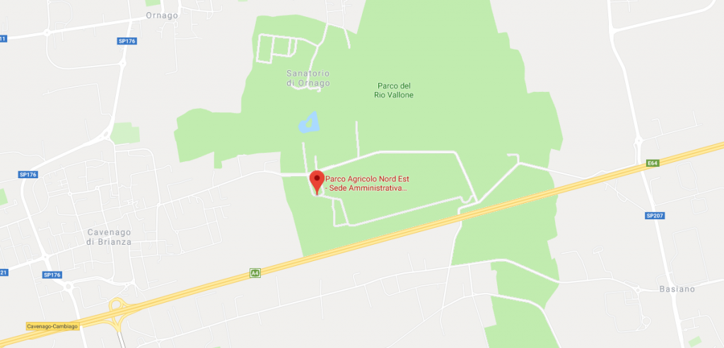 Posizione della sede amministrativa su mappa.